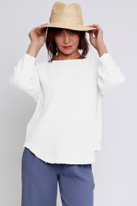 3/4 Sleeve Seamed Front Tunic