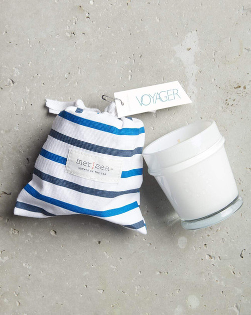 Voyager Striped Sandbag Candle