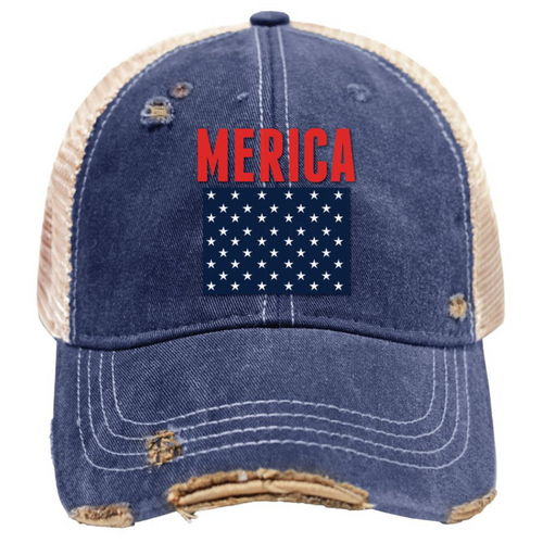 'Merica Mudwashed Snap Back Trucker Hat