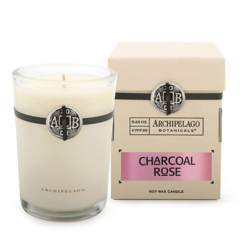 Charcoal Rose Boxed Candle