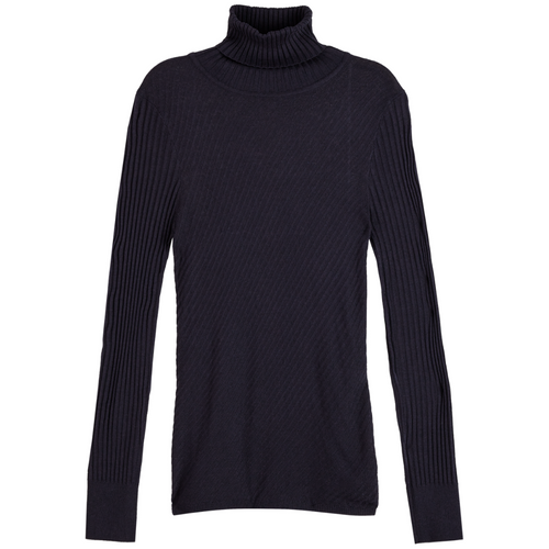 Wool-blend Rib Knitted Turtleneck