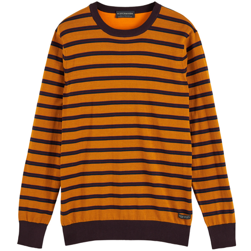 Classic Striped Cotton Crewneck Pullover