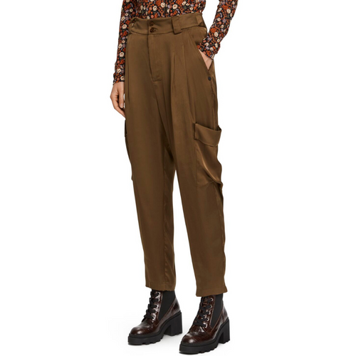 Chic Cargo Pants in Drapey Viscose