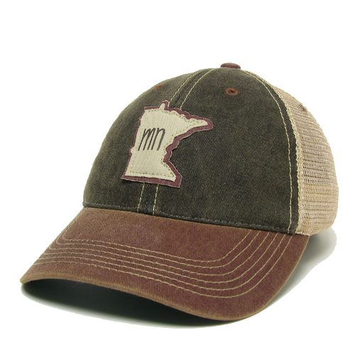 MN Black/Burgundy Trucker