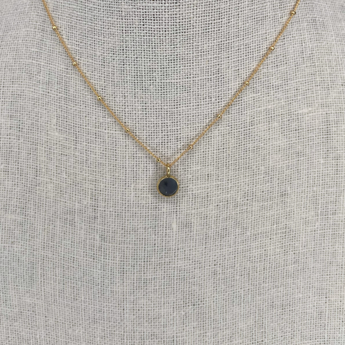 14k Gold Filled Charcoal Grey Petite Drusy