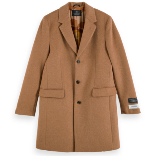 Classic Wool-Blend Single Breasted Overcoat
