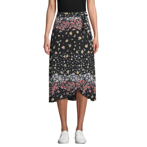 Ashbury Floral Silk Wrap Skirt