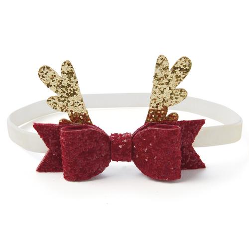 Headband - Sparkle Reindeer Bow