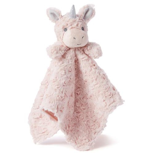 """Blankie - Pink Unicorn Swirl 15x15"""""""