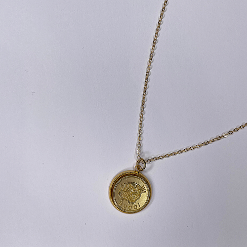 Gucci Gold Necklace Flat Gold Tiger GUCCI