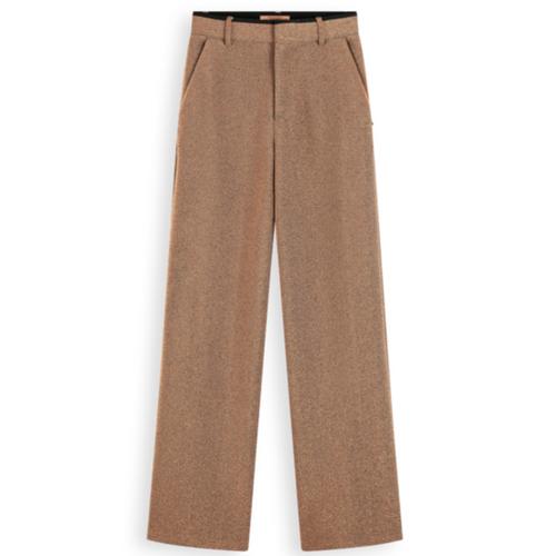 Wide Leg Stretch Metallic Pants