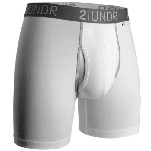 Swing Shift Boxer Brief - White/Grey
