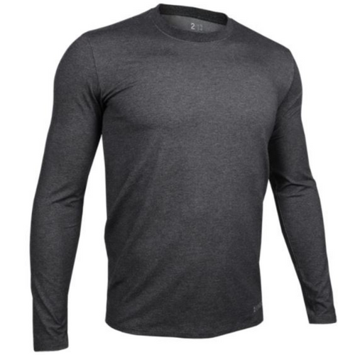Long Sleeve Crew Tee - Charcoal