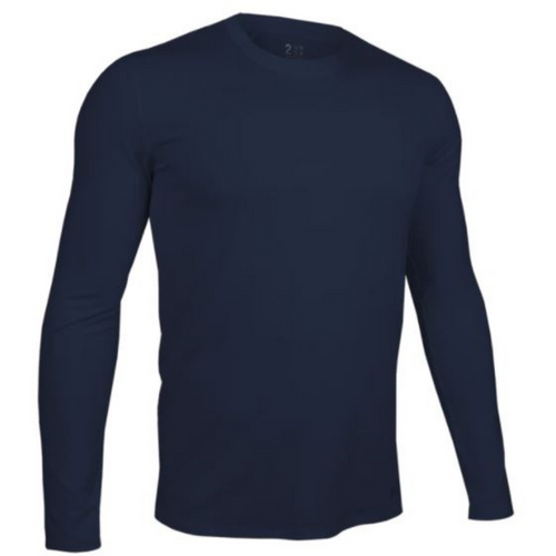 Long Sleeve Crew Tee - Dark Navy
