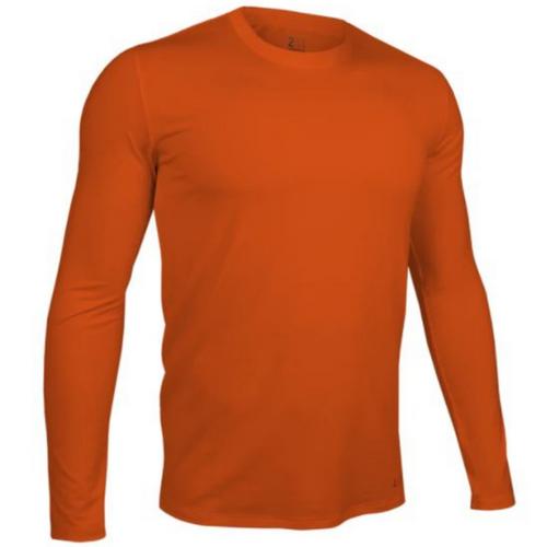 Long Sleeve Crew Tee - Deep Orange