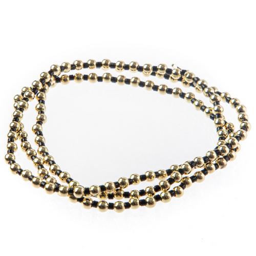 Bali Gold bead set of 3- Black