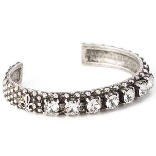 Swarovski Bangle Antiqued Sterling Silver