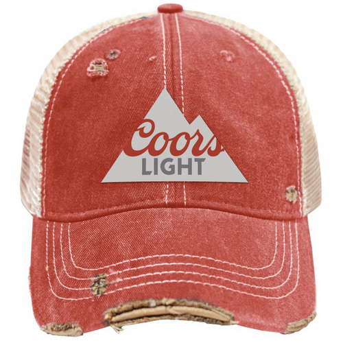 Coors Light Snap Back Vintage Trucker Cap