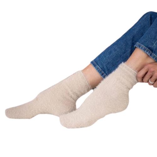 Chalet Fuzzy Socks Latte