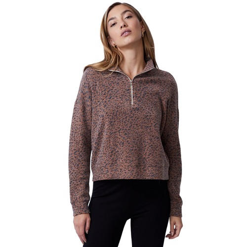 Mini Leopard Half Zip