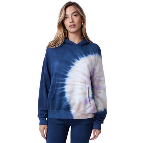 Supersoft Fleece Circular Tie Dye Slouchy Pullover