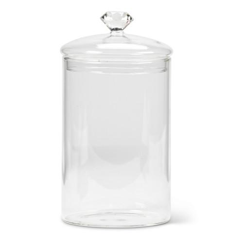 """Large Gem Top Covered Jar 8"""""""