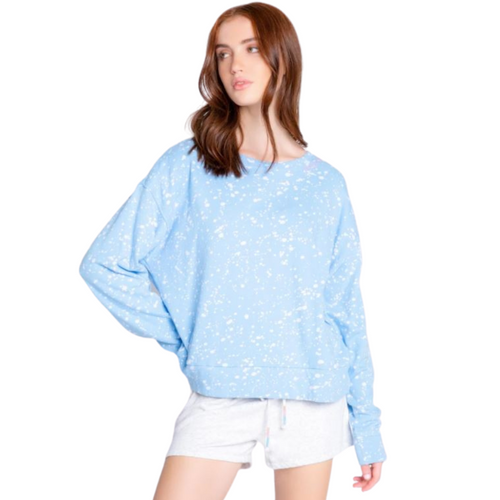 FLICK OF A BRUSH LONG SLEEVE TOP