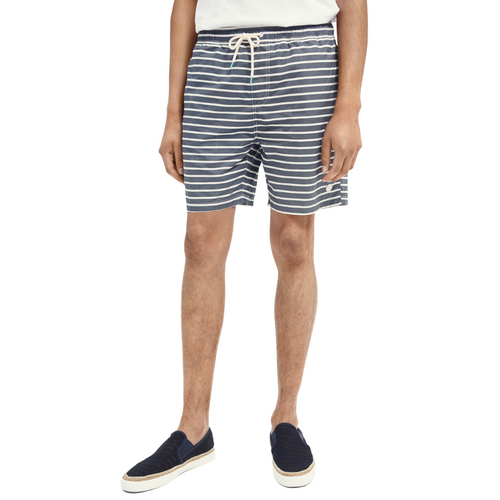 Mid-length recycled polyester swim short