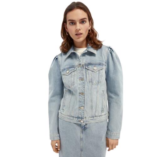 Organic cotton trucker jacket