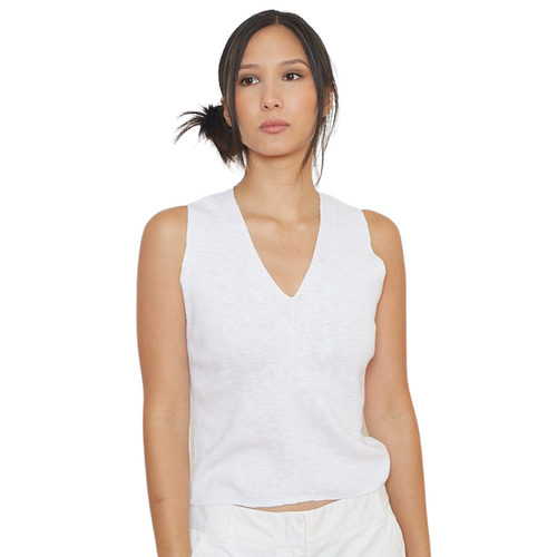 Sleeveless  Sweater  - White
