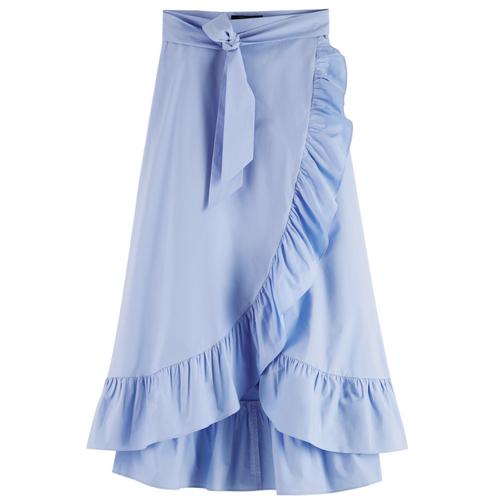 Maxi wrap organic cotton skirt