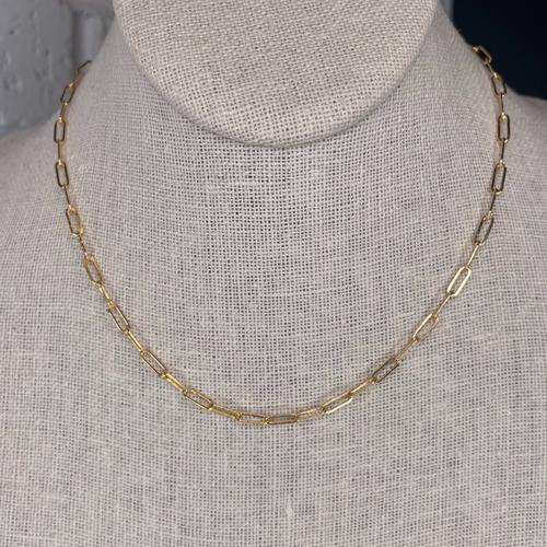14k Gold Filled Petite Oblong Link