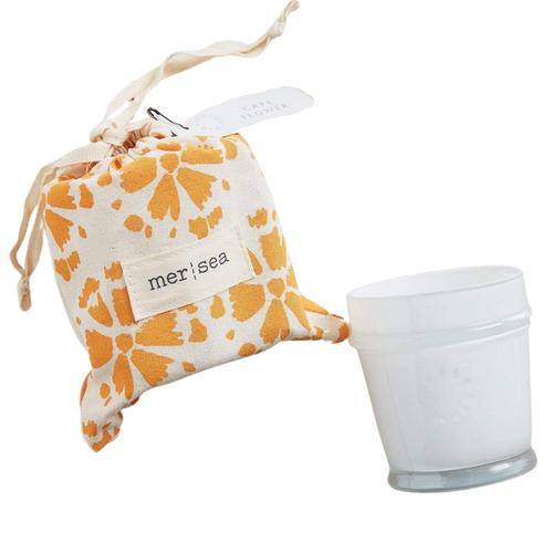 Cape Flower Printed Sandbag Candle