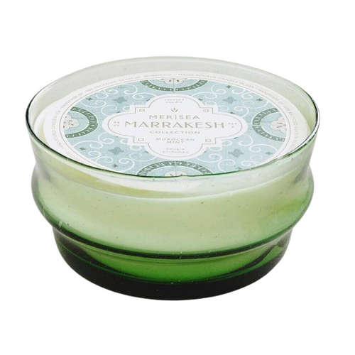 Moroccan Mint 13oz Green Glass Candle