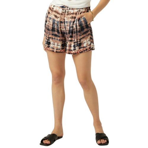 Print Shorts Abstract Tie Dye
