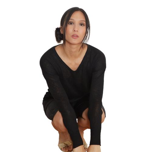 Linen Soft Sweater V-Neck