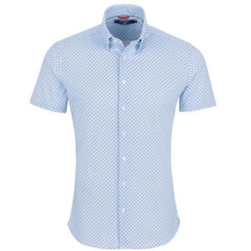 Circle Checked Short Sleeve Shirt