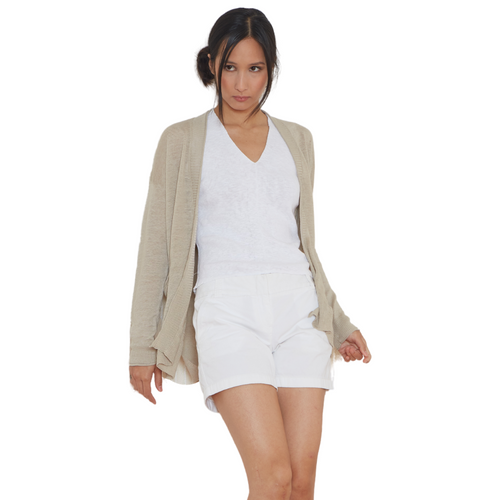 Linen Cardigan with Pockets