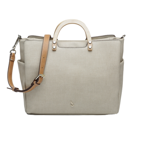 Trendy Alacha Shopper Bag with Wooden Handle