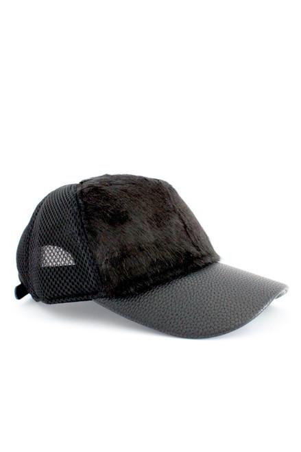 Fur Mesh Ball Cap