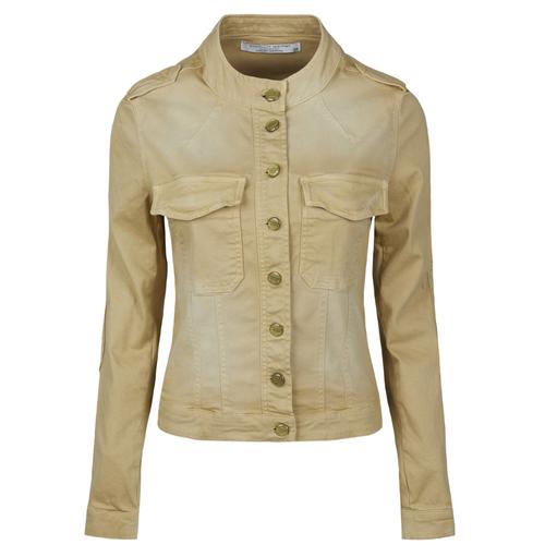 Fine Twill Jacket with Mandarin Collar