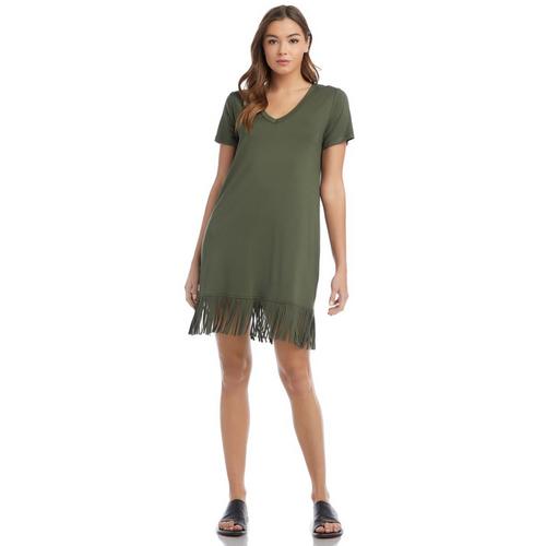 V-Neck Fringe Dress