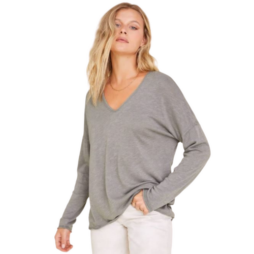 In Case Textured Seamed Long Sleeve