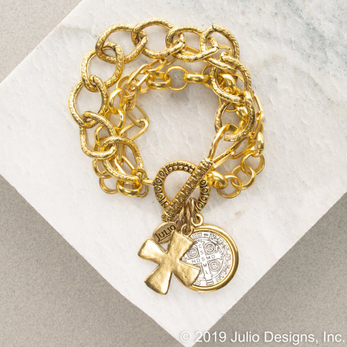 Address Bracelet Gold