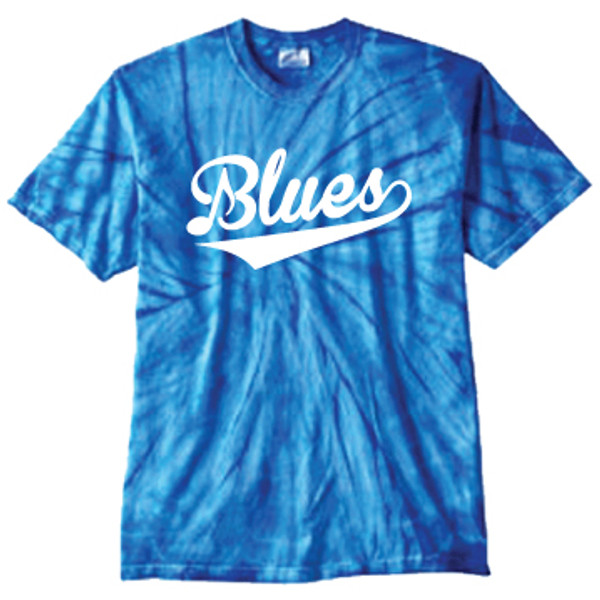 Blues Spider Blue Tie-Dye T-shirt