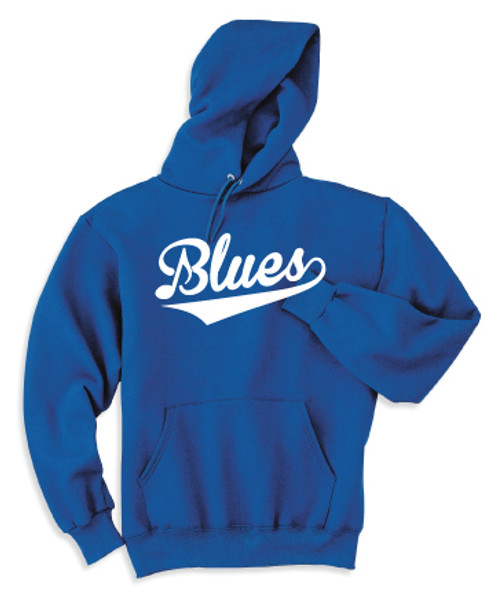 Blue 50/50 Pullover Hooded Sweatshirt