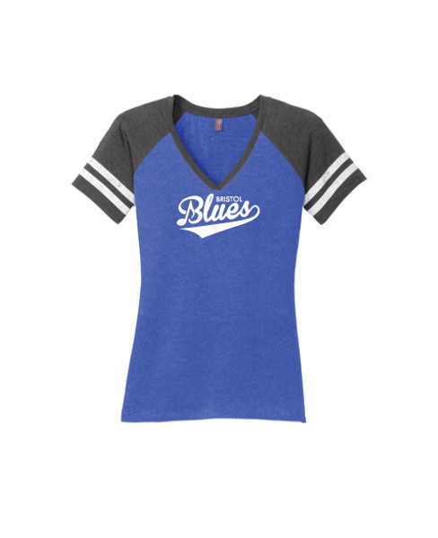 Womens Game Day V-Neck Raglan Tee