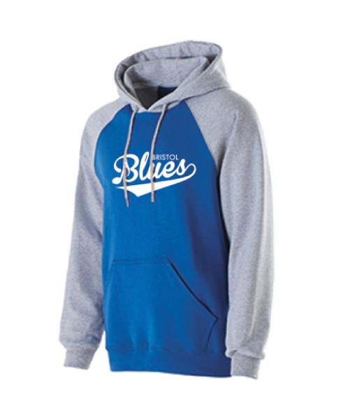 Royal Blue/Grey 9oz. Hooded Sweatshirt