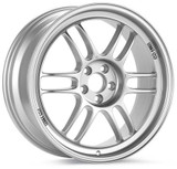 RPF1 17X9.5 5X114.3 18MM OFFSET 73MM BORE SILVER WHEEL BY ENKEI
