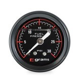 Grams Fuel Pressure Gauge - 30psi Black Face
